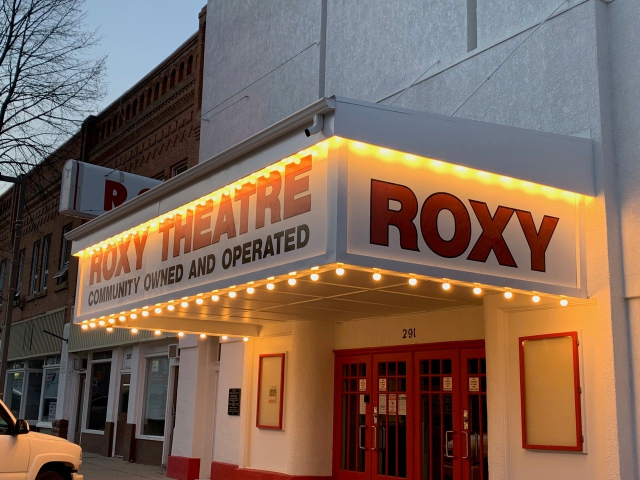 Roxy Theatre after the marquee upgrades